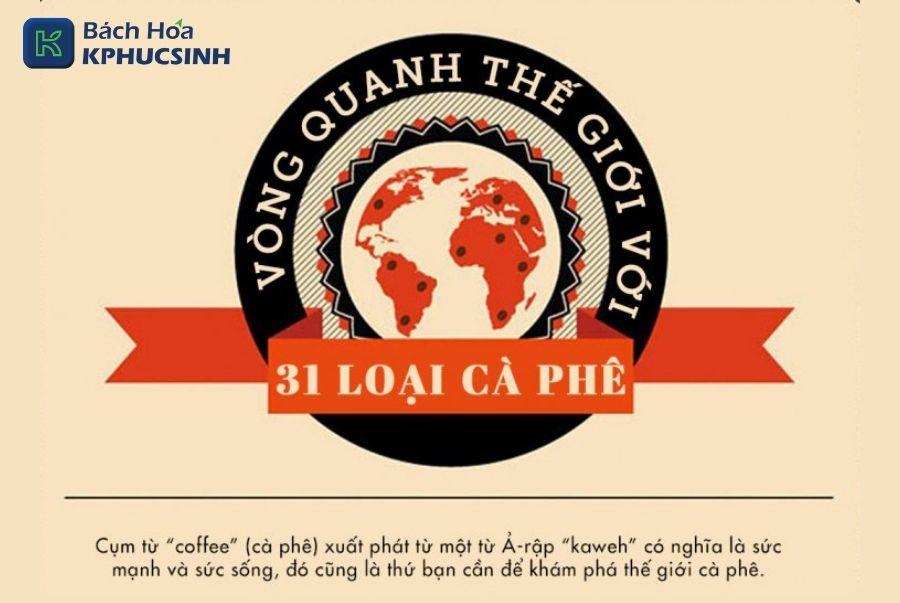 Một vòng trái đất với 31 loại cà phê