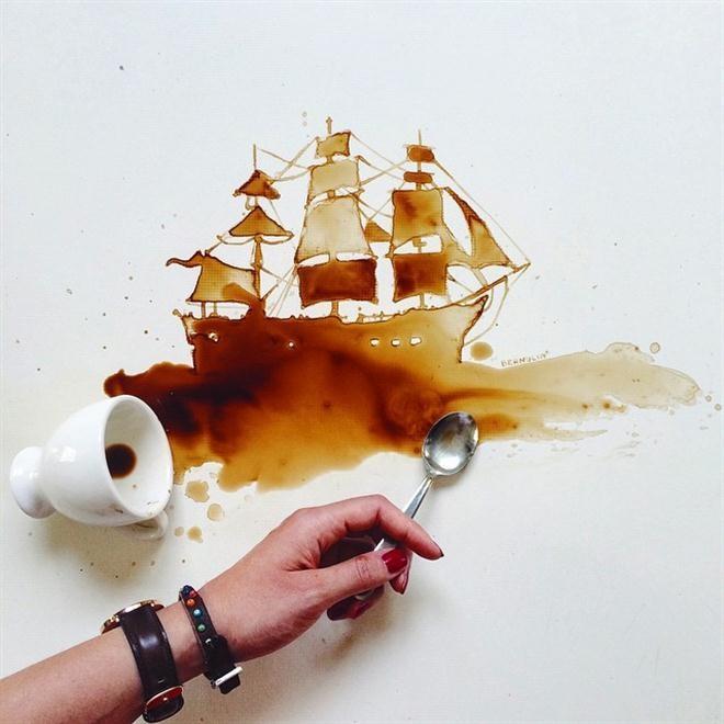 Khi cà phê mang trong mình tâm hồn của một họa sĩ